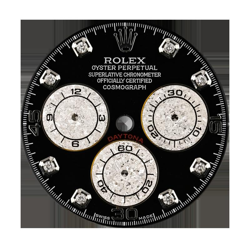 Rolex Daytona Black/Diamond Hour Markers Custom Dial