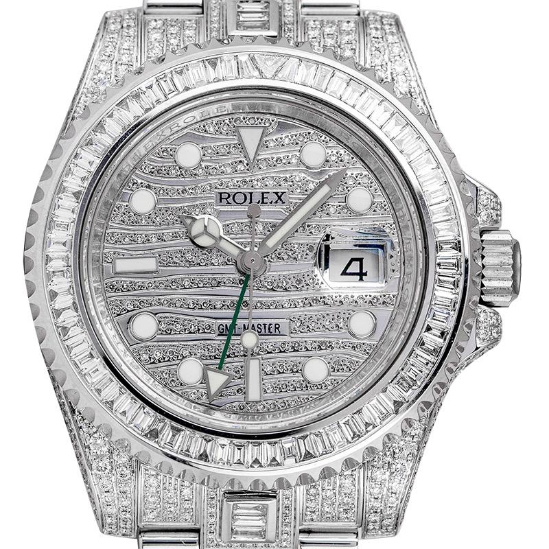Custom Diamond Set Rolex GMT-Master II 116710LN Watch