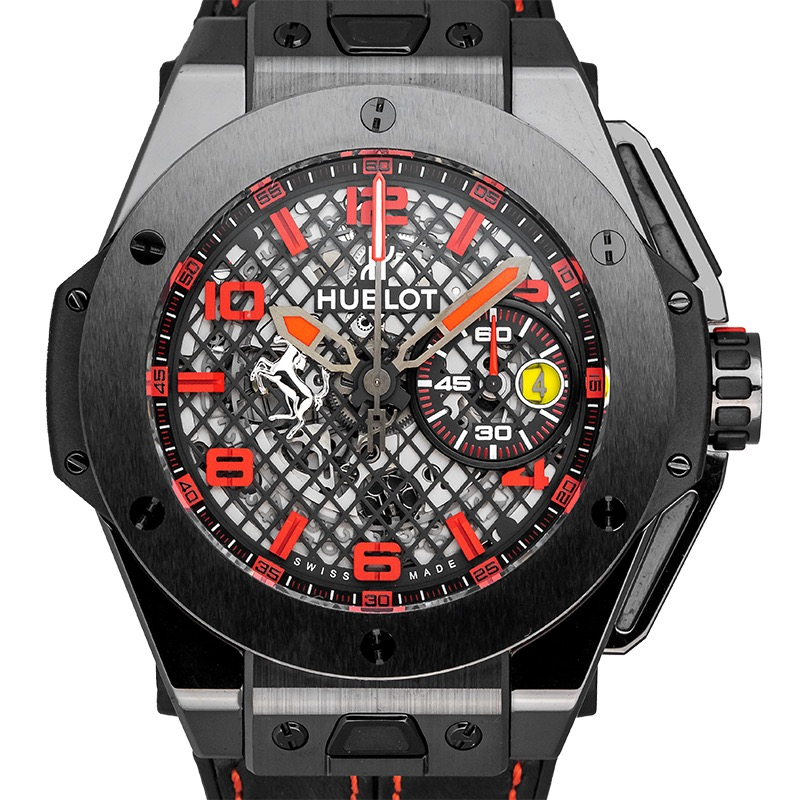 Hublot Big Bang Unico Ferrari Special LTD Edition 401.CX.1123.VR Black Ceramic Watch