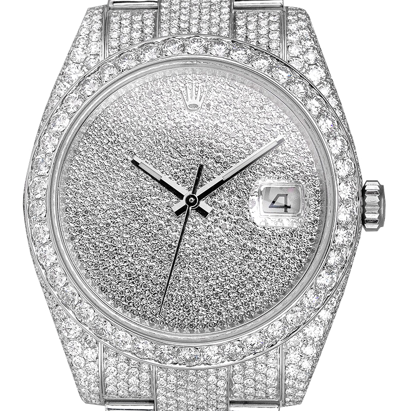 Rolex Datejust 41 Custom Diamond Set Diamond Paved Dial 126300