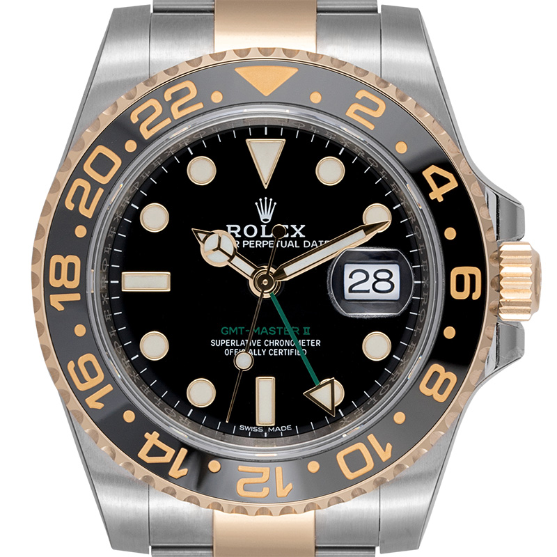 Rolex GMT-Master II Stainless Steel and Yellow Gold Black/Index 116713LN