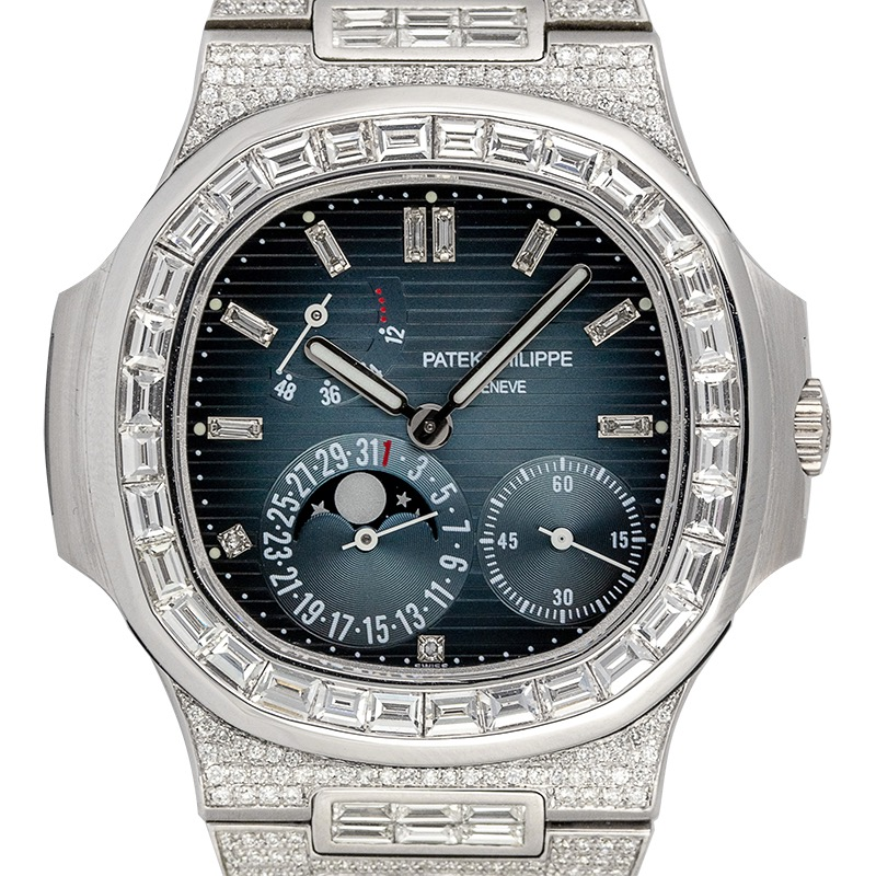 Custom Diamond Set Patek Philippe Nautilus 5712G