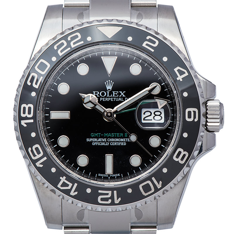 Rolex GMT-Master II Stainless Steel Watch Black Dial 116710LN Watch