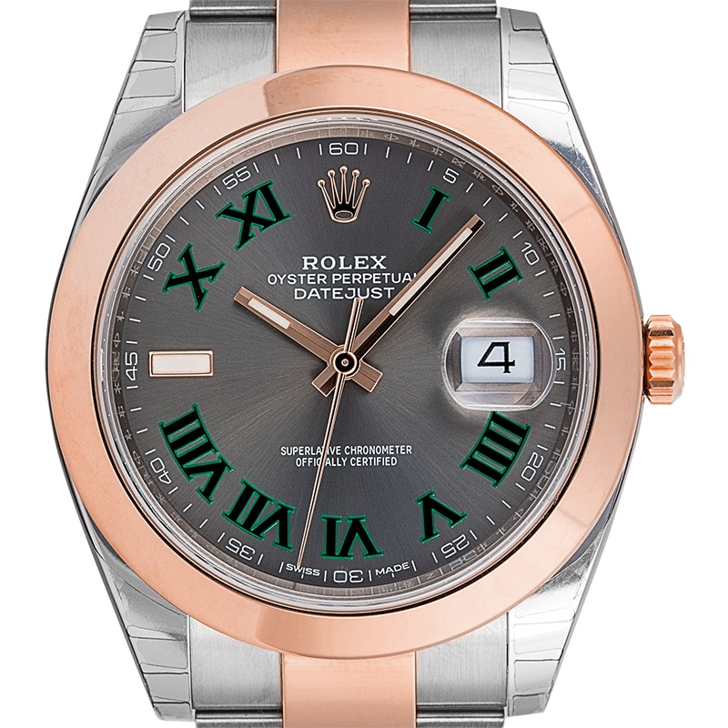 Rolex DateJust 41 Steel and 18ct Everose Gold Slate Dial 126301