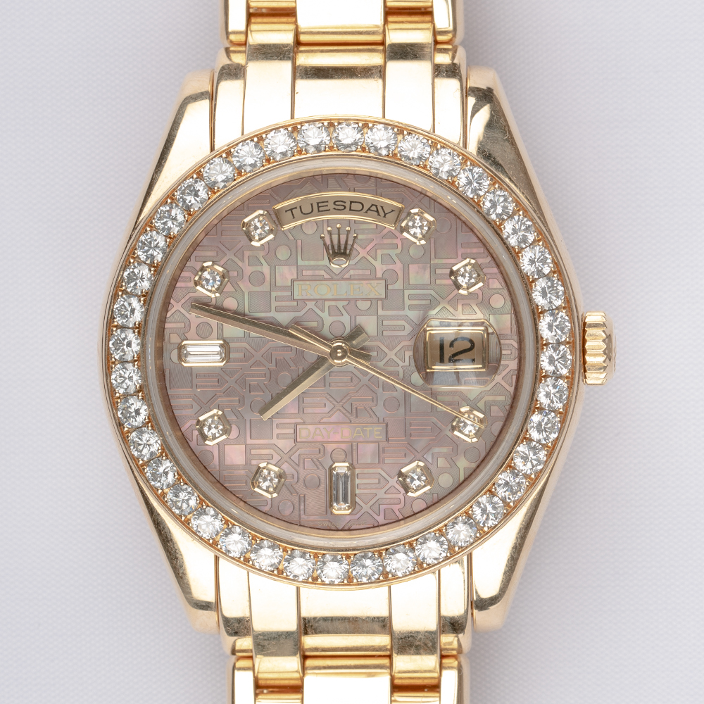 Rolex 18948 Day-Date Yellow Gold With MOP Dial and Bezel Mother Of Pearl Dial