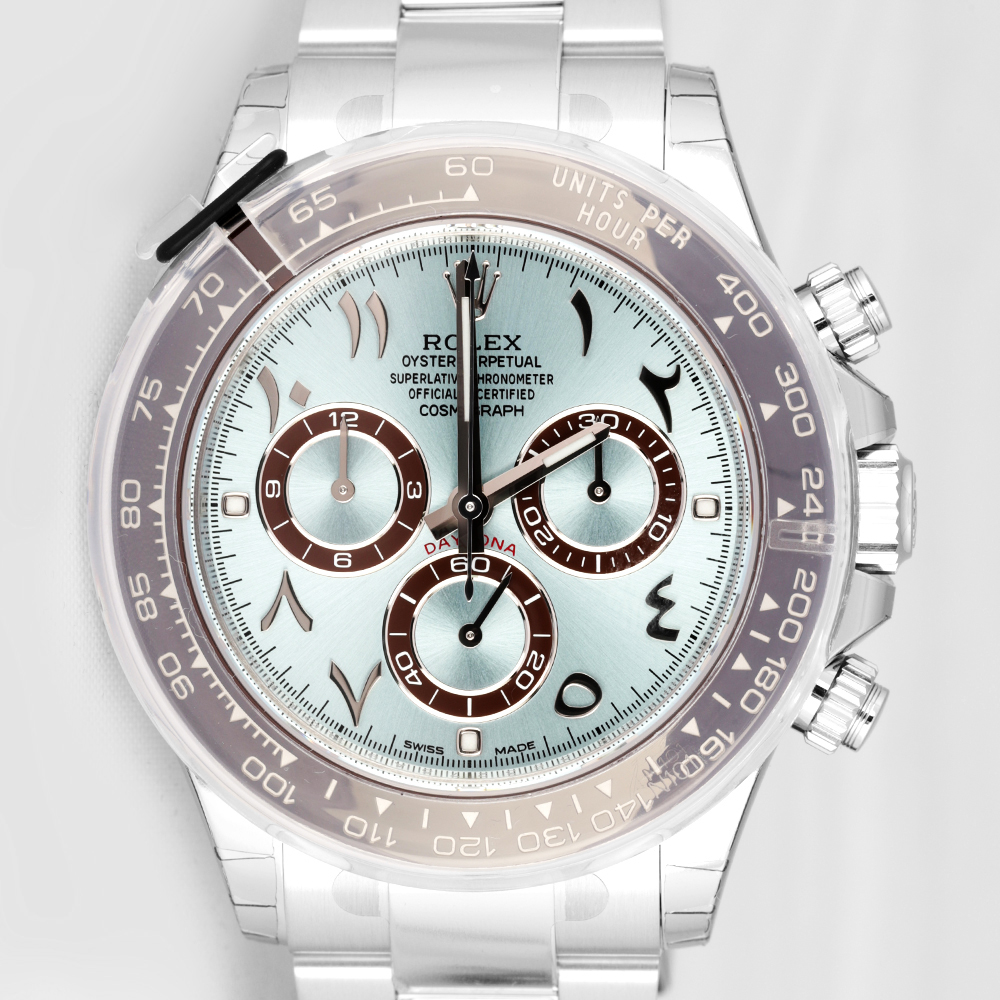 Rolex 116506 Daytona Platinum 40mm Arabic Dial Ice Blue
