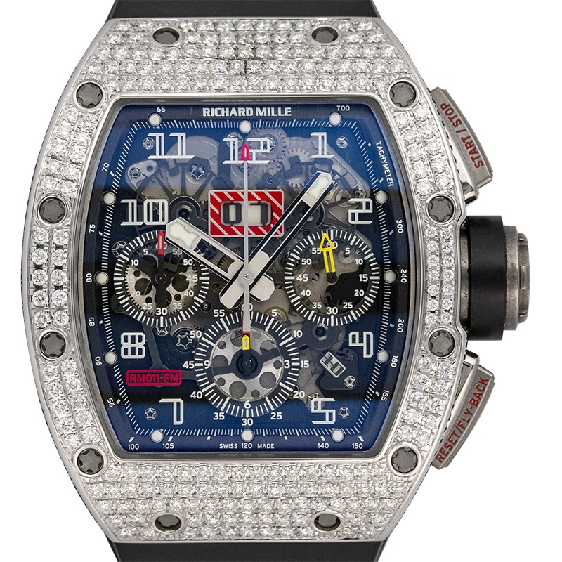 Richard Mille RM 011 Felipe Massa with Custom 18ct Gold Diamond Set Bezel