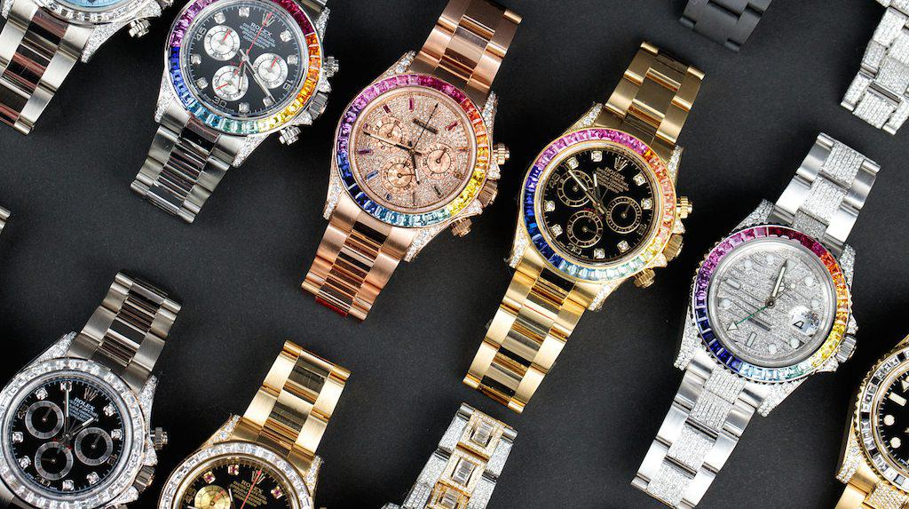 Stop Chasing And Build Your Own Custom Bejeweled Rainbow Rolex Watch