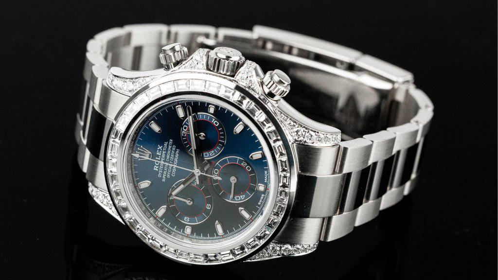 Ultimate Chronograph - Rolex Daytona White Gold Diamond | Time 4 Diamonds